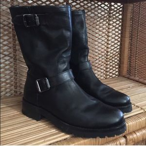 FRYE Natalie Mid Engineer Lug Black 8.5
